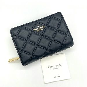 Kate Spade Medium Compact Bifold Wallet Black